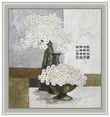 Репродукция Декарт Белые цветы