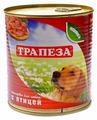 Корм для собак Трапеза Консервы для собак с птицей