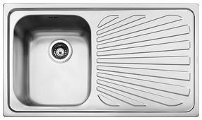 Врезная кухонная мойка smeg SP861D 86х50см нержавеющая сталь