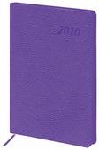 Ежедневник BRAUBERG Stylish датированный на 2020 год, искусственная кожа, А5, 168 листов