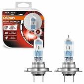 Лампа автомобильная галогенная OSRAM NIGHT BREAKER UNLIMITED H7 64210NBU-HCB 12V 55W 2 шт.