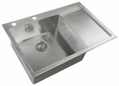 Врезная кухонная мойка ZorG INOX X-7851-L 78х51см нержавеющая сталь