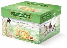 Набор конфет Amapola Миндаль и зеленый чай 100 г