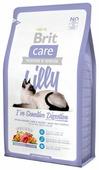Корм для кошек Brit Care Lilly беззерновой, при чувствительном пищеварении, с ягненком, с лососем