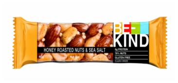 Ореховый батончик Be-Kind цельные орехи, мёд, морская соль, 40 г