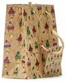 Пакет подарочный УРРА крафт Новый год 11х14х6 см