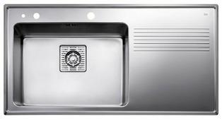 Врезная кухонная мойка TEKA Frame 1B 1D Plus 97х51см нержавеющая сталь