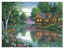 Белоснежка Набор для вышивания Лесное озеро 53 x 40 см (4050)