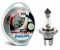 Лампа автомобильная галогенная Philips Vision Plus + 60% H4 60/55W 2 шт.