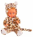 Пупс Пластмастер в костюме Леопард 37 см 10109