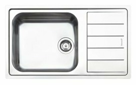 Врезная кухонная мойка smeg LFBG861 87х51см нержавеющая сталь