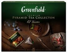 Чай Greenfield Pyramid Tea Collection 12 varieties ассорти в пирамидках подарочный набор