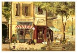 Разделочная доска Gift'n'Home Парижское кафе CB-01-Cafe 20х30х0.4 см