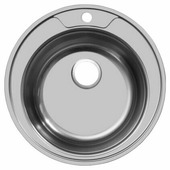 Врезная кухонная мойка UKINOX Favorit FAD 490---6K 49х49см нержавеющая сталь