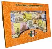 Разделочная доска Gift'n'Home Вокруг Света CB-01-AWorld 20х30х0.4 см
