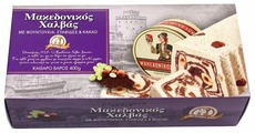 Халва Macedonian Halva македонская с фундуком, изюмом и какао 400 г