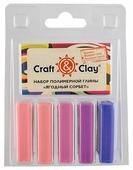 Полимерная глина Craft & Clay Ягодный сорбет, 5 цветов по 20 г