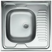Накладная кухонная мойка Kromevye Lay on EC209 60х60см нержавеющая сталь