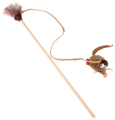 Дразнилка для кошек GiGwi Feather Teaser ЭКО с мышкой (75449)