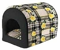 Домик для кошек Ferplast Tunnel розы 38х30х34 см