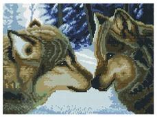 Белоснежка Набор алмазной вышивки Два волка (260-ST-S) 40x30 см