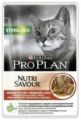 Корм для стерилизованных кошек Purina Pro Plan Nutrisavour для профилактики МКБ, с говядиной 85 г (кусочки в соусе)