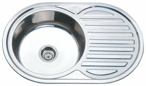 Врезная кухонная мойка Ростовская Мануфактура Сантехники MG6-7750OVL 77х50см нержавеющая сталь