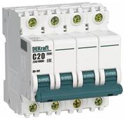 Автоматический выключатель DEKraft ВА-101 4P (C) 4,5kA
