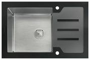 Врезная кухонная мойка Tolero Glass TG-660 66х50см нержавеющая сталь