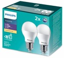 Упаковка светодиодных ламп 2 шт Philips Essential LED 3000К, E27, A55, 11Вт