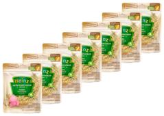 Каша Heinz безмолочная цельнозерновая рисовая (с 4 месяцев) 180 г, 7 шт.