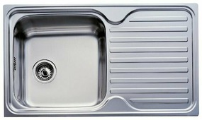Врезная кухонная мойка TEKA Classic 1B 1D 86х50см нержавеющая сталь