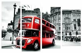 Модульная картина Картиномания Лондонский автобус