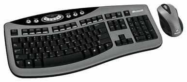 Клавиатура и мышь Microsoft Wireless Laser Desktop 3000 Black-Grey USB
