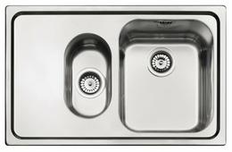 Врезная кухонная мойка smeg SP7915S-2 79х50см нержавеющая сталь