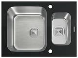 Врезная кухонная мойка Tolero Glass TGR-660k 66х50см нержавеющая сталь