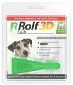 RolfСlub 3D Капли от клещей и блох для собак 4–10 кг