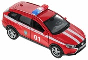 Легковой автомобиль Welly Lada Westa SW Cross Пожарная охрана (43763FS)