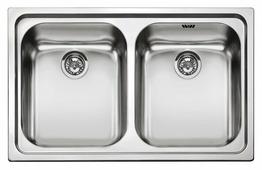 Врезная кухонная мойка smeg SP792-2 79х50см нержавеющая сталь