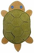 Игрушка для собак Ankur Черепаха из буйволиной кожи 21х12 см