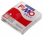 Полимерная глина FIMO Soft запекаемая рождественский красный (8020-2P), 57 г