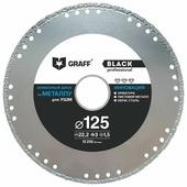 Диск алмазный отрезной 125x1.5x22.23 GRAFF Black GDDM125B