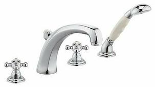 Смеситель для ванны с душем KLUDI Adlon 51524 4520 двухрычажный встраиваемый лейка в комплекте латунь
