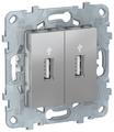 Телекоммуникационная розетка Schneider Electric NU542730, алюминиевый