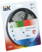 Светодиодная лента IEK LED LSR-5050RGB30-7.2-IP20-12V 5 м