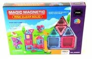 Магнитный конструктор Наша игрушка Magic Magnetic Pink JH6869 Pink Clear Solid