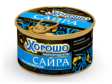 ХОРОШО Сайра натуральная с маслом, 250 г