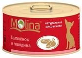 Корм для собак Molina Консервы для собак Цыпленок и говядина