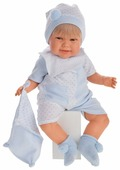 Интерактивная кукла Antonio Juan Мартин в голубом, 52 см, 2001B