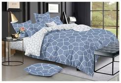 Постельное белье 2-спальное с евро простыней Василиса Лофт 820 сатин